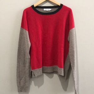 Cashmere Color Block Sweater